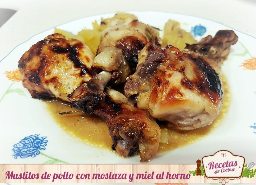 Muslitos De Pollo Con Mostaza Y Miel Al Horno