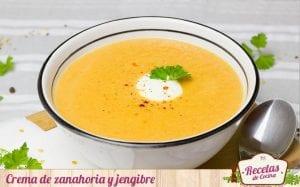 Crema de zanahoria y jengibre