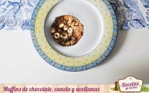 Muffins de chocolate, canela y avellana