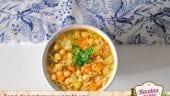 Sopa de garbanzos y pasta orzo