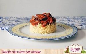 Cuscús con carne con tomate
