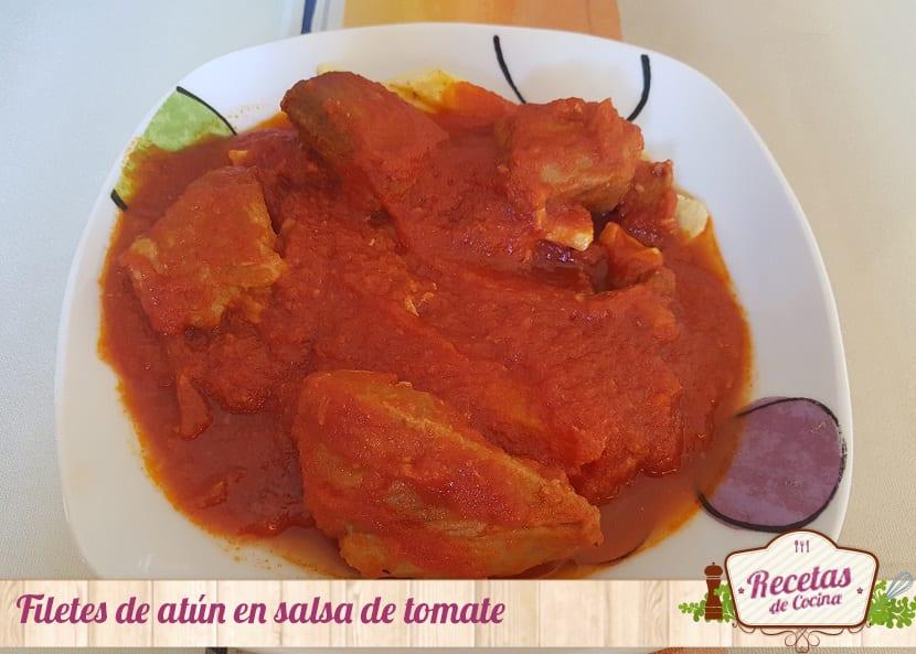 Filetes de at n en salsa de tomate para mojar pan - Filetes de carne en salsa ...