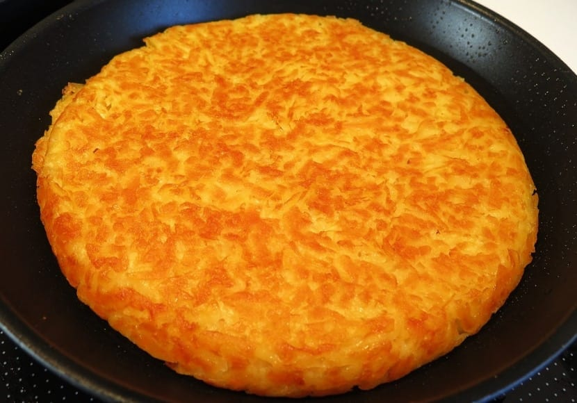 Tortilla de arroz y queso