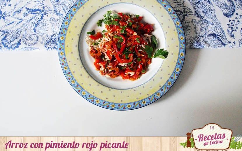 Arroz con pimiento rojo picante