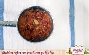 Alubias rojas con verduras y chorizo