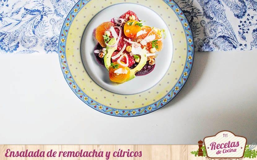 Ensalada de remolacha y cítricos