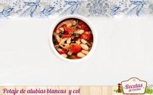 Potaje de alubias blancas con col