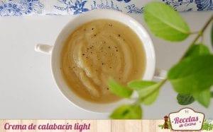 crema de calabacín light