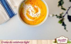 Crema de calabaza light