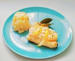 Bacalao al horno con arroz