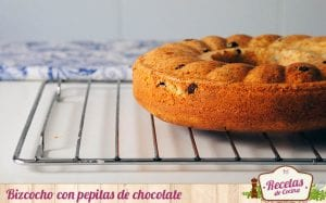 Bizcocho con pepitas de chocolate