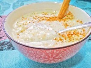 Arroz con leche y nata