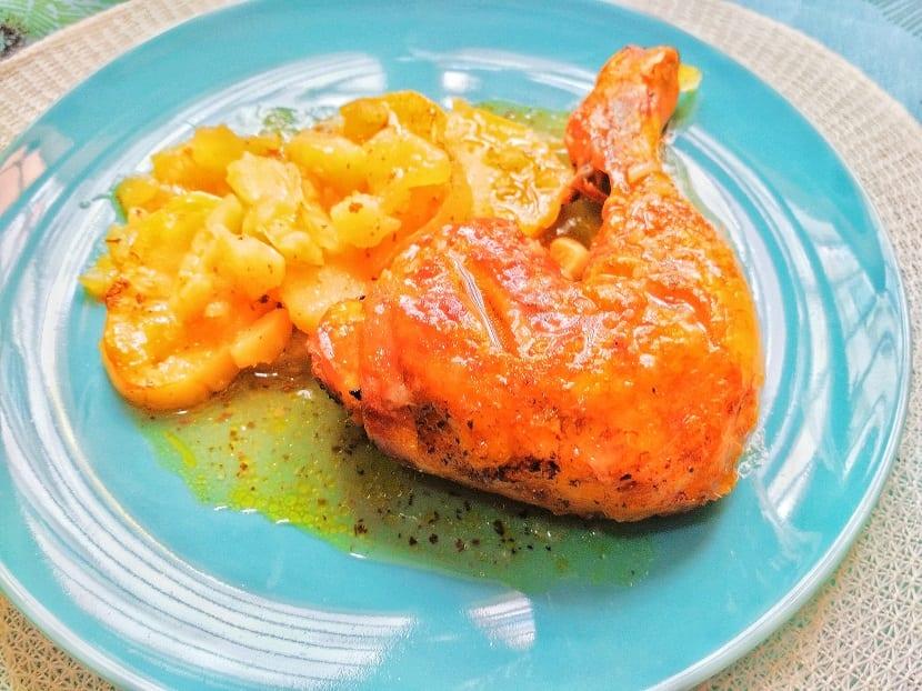 Contramuslos de pollo asado