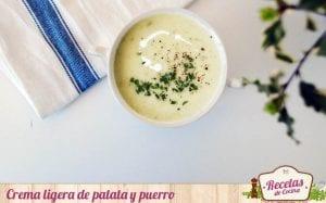Crema de patata y puerro
