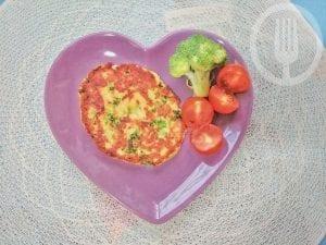 Hamburguesa de brócoli y queso