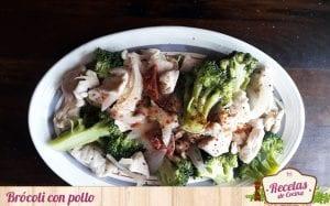 Salteado de brócoli con pollo