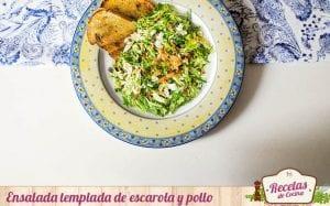 Ensalada templada de escarola y pollo