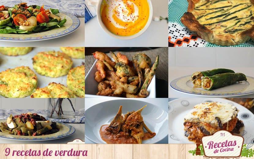 9 recetas de verdura, sencillas y saludables
