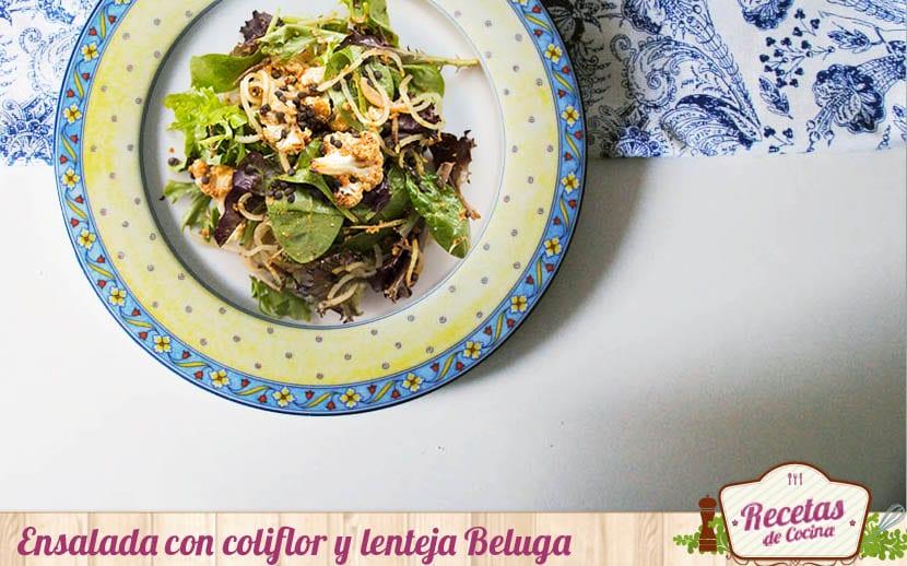 Ensalada de coliflor y lentejas Beluga