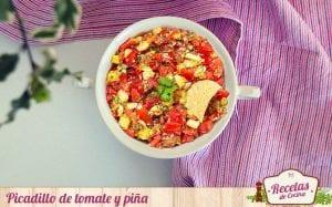 Picadillo de tomate y piña