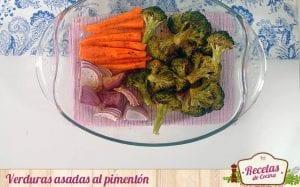 Verduras asadas al pimentón