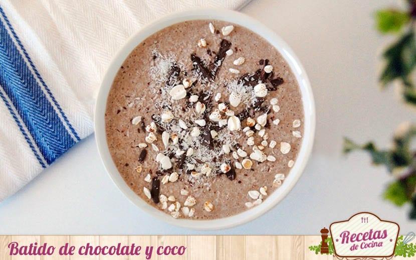 Batido de chocolate y coco