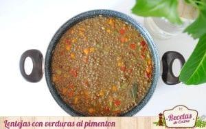 Lentejas con verduras al pimentón