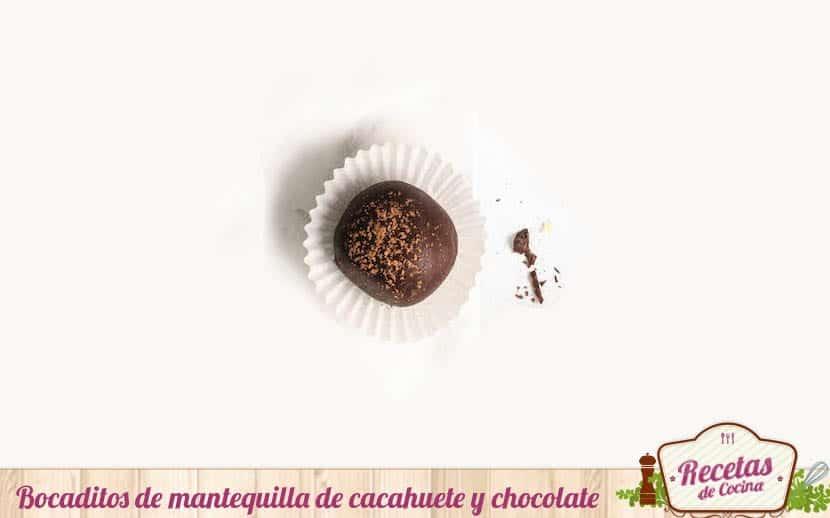 Bocaditos de mantequilla de cacahuete y chocolate
