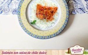 Salmón con salsa de chile dulce