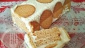 Pastel de galletas y mousse de limón