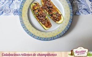 Calabacines rellenos de champiñones