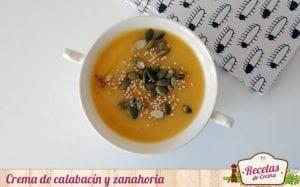 Crema de calabacín y zanahoria