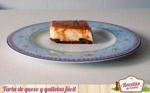 Tarta de queso y galletas fácil