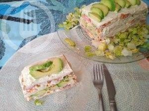Pastel de verano con pan de molde