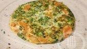 Tortilla de brócoli y zanahoria