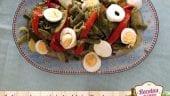 Judías verdes con pimientos del piquillo y huevo cocido