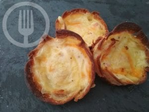Mini quiche de bacon y queso