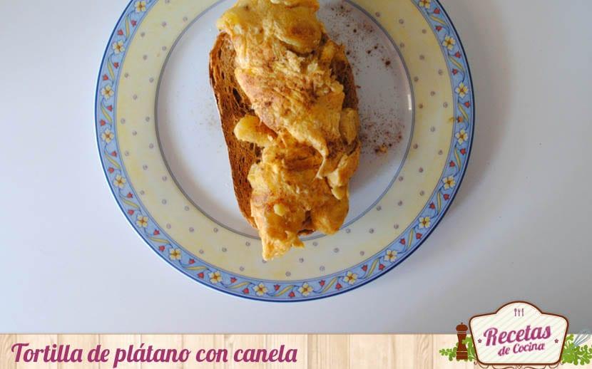 Tortilla de plátano con canela
