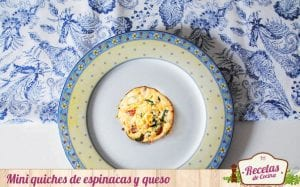 Mini quiches de espinacas y queso
