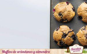 Muffins de arándanos y almendra