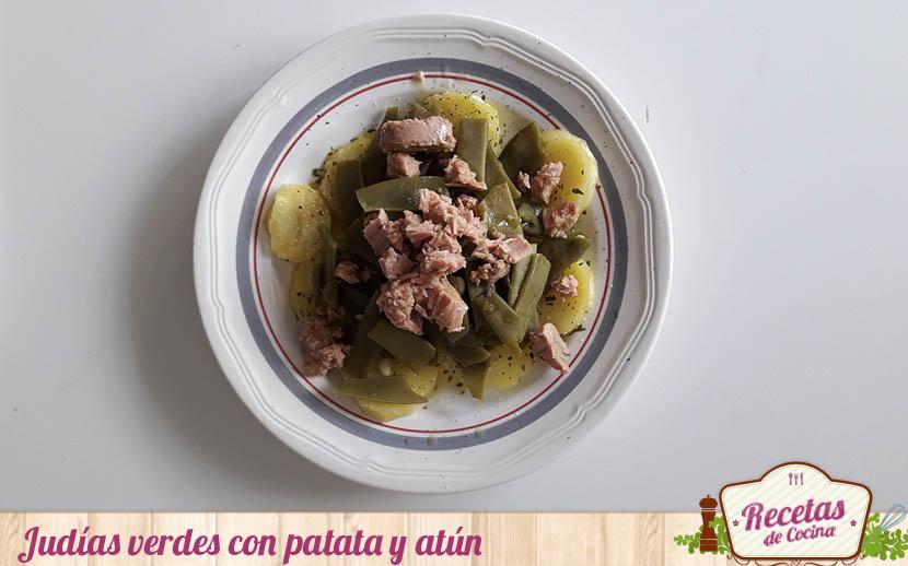 Judías verdes con patata y atún