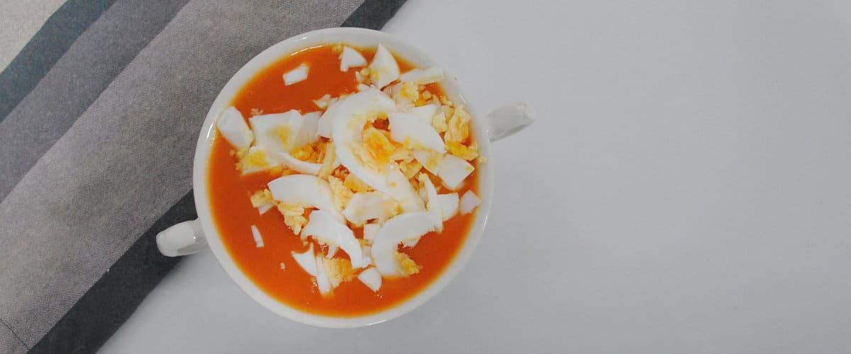 Puré de calabaza asada con huevo cocido