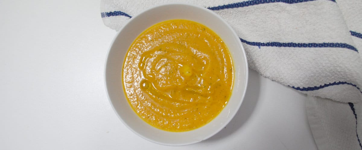 Puré de calabacín y zanahoria