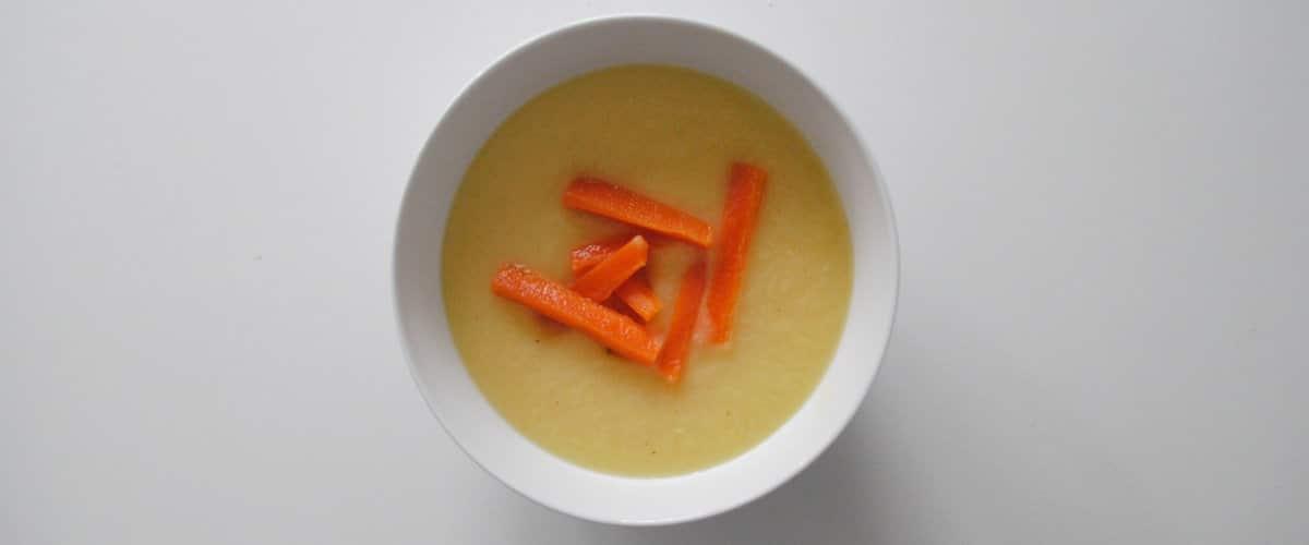Crema de coliflor, zanahoria y cúrcuma