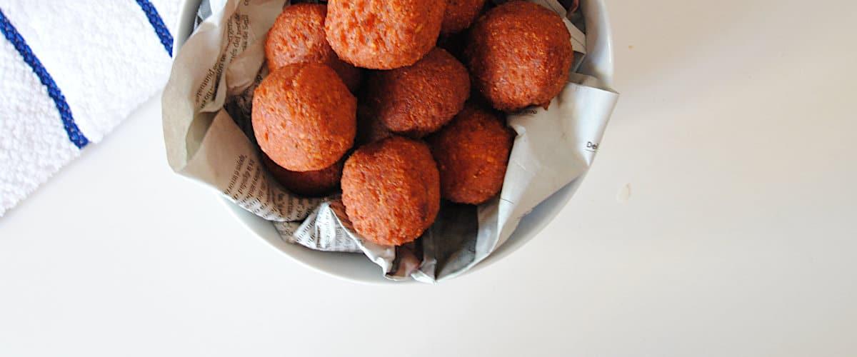 Falafel con remolacha