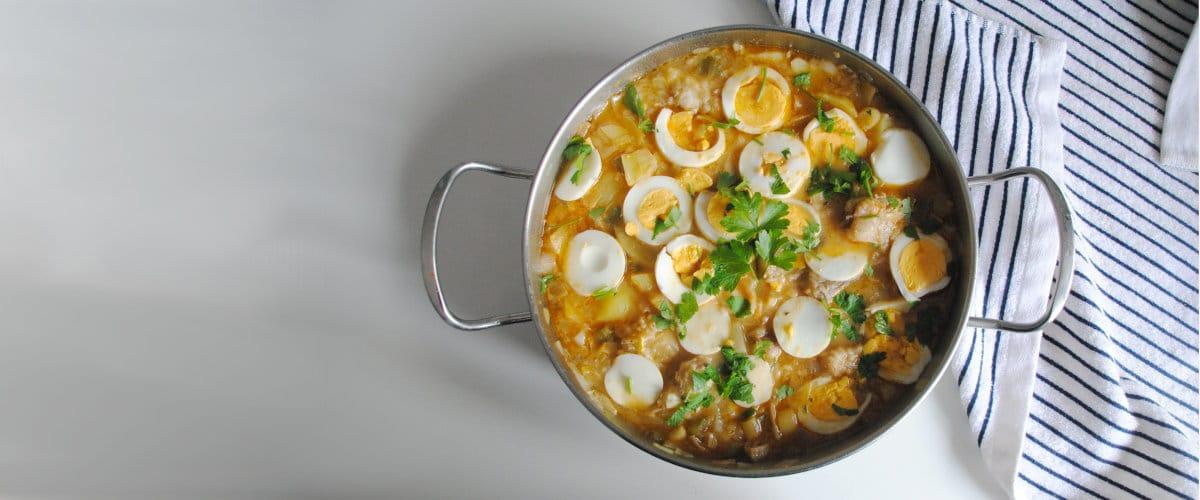 Guiso de patatas y merluza
