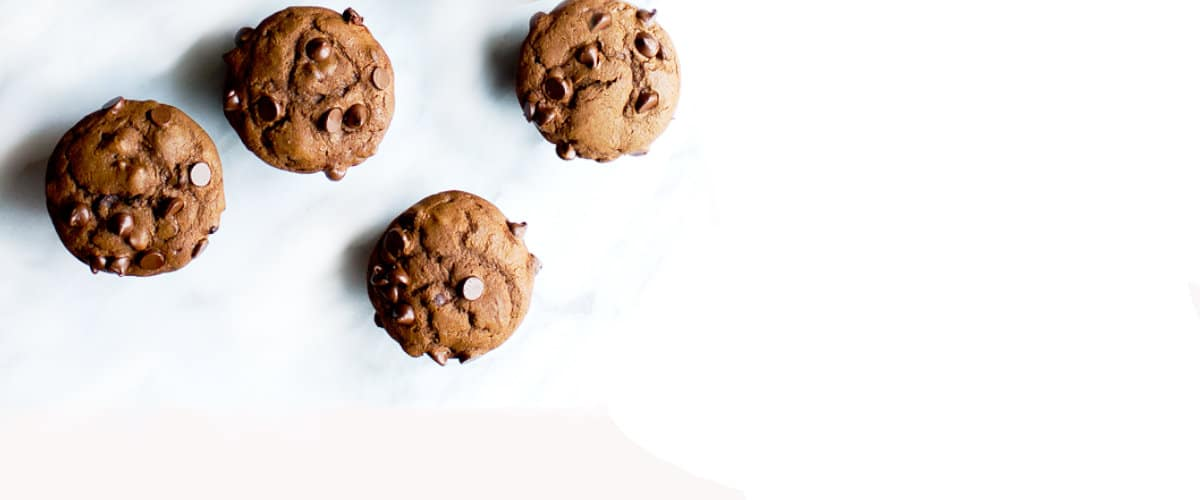 Muffins de chocolate con higos secos