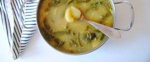 Curry de patatas y judías verdes
