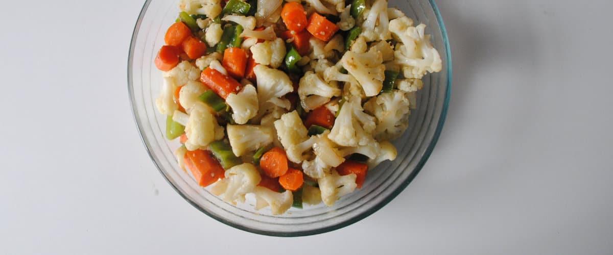 Ensalada templada de coliflor y zanahoria