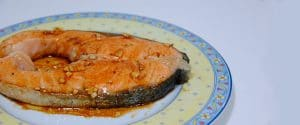 Salmón en salsa de soja y miel